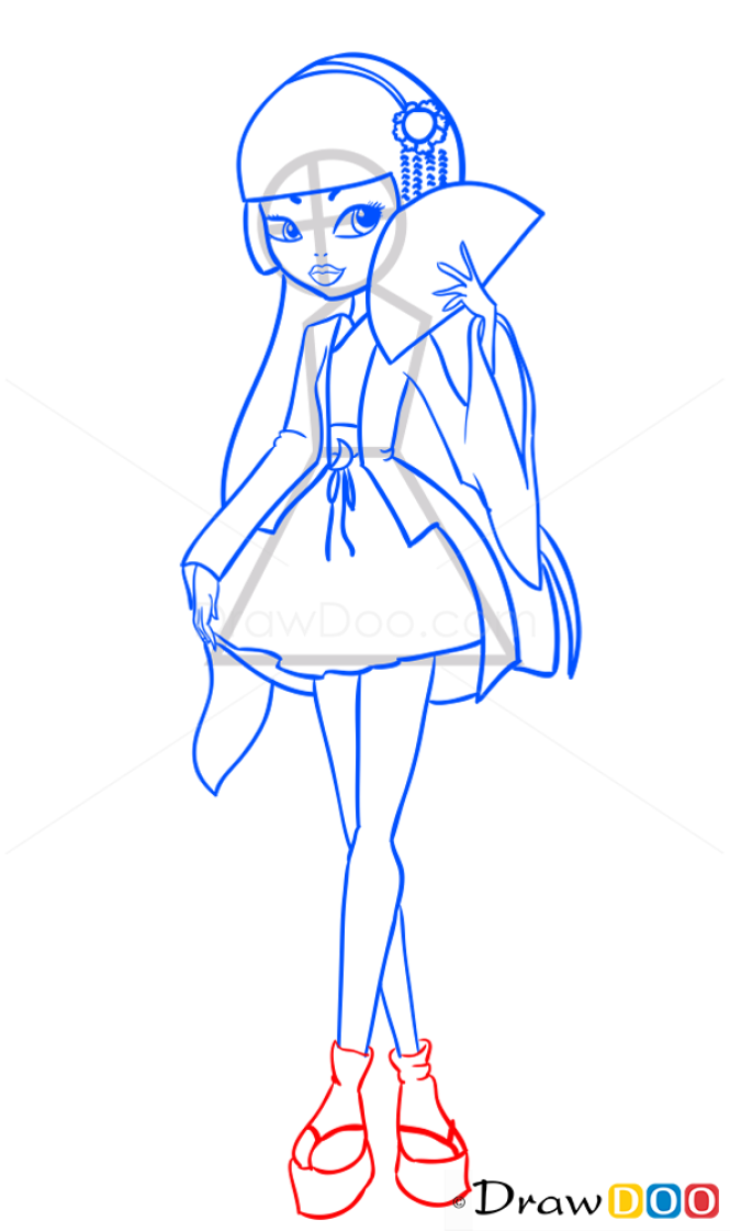 How to Draw Mizuki Hime, Ever After Higt