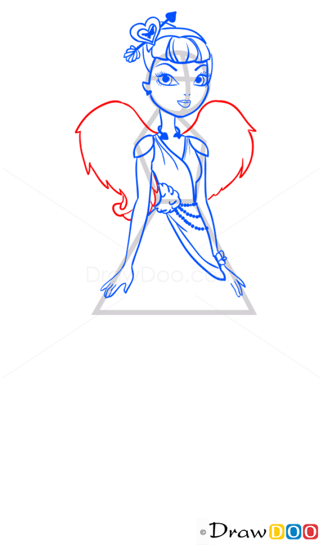 How to Draw C.A.Cupid, Ever After Higt