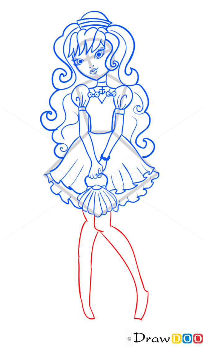 How to Draw Symphony Shallo, Ever After Higt