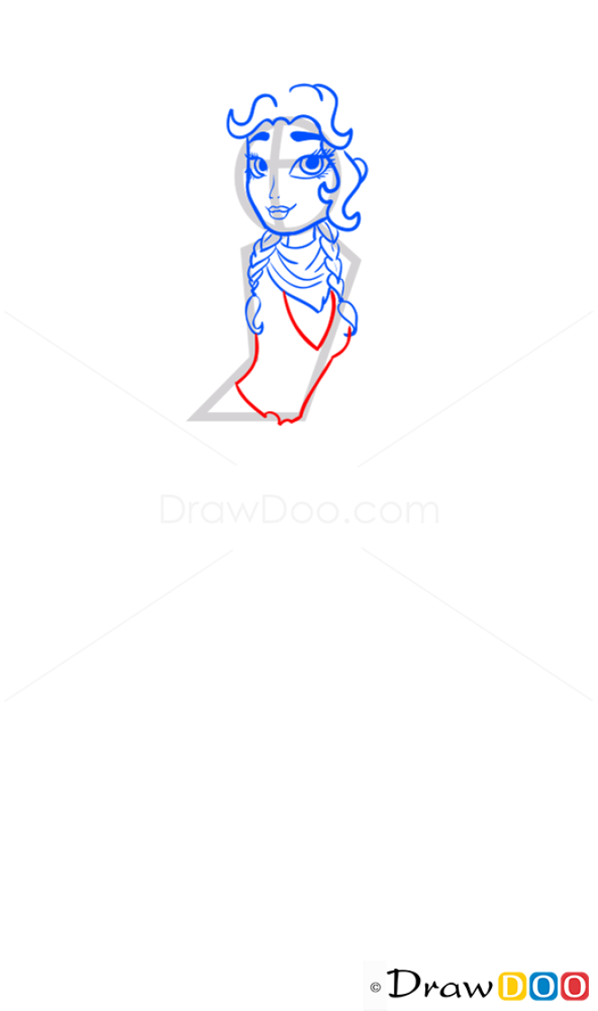 How to Draw Angelique Reaperess, Ever After Higt