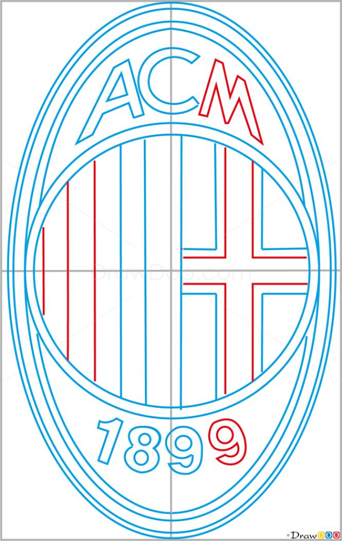 How to Draw Milan, Football Logos