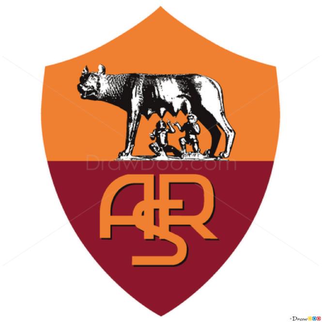 How to Draw Roma, Football Logos