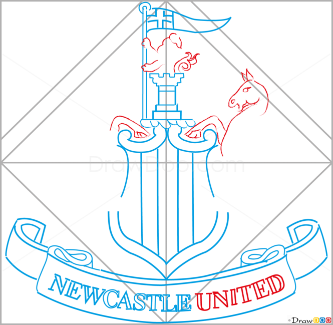 How to Draw Newcastle, United, Football Logos