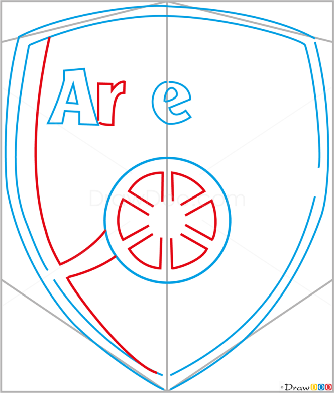 How to Draw Arsenal, Football Logos