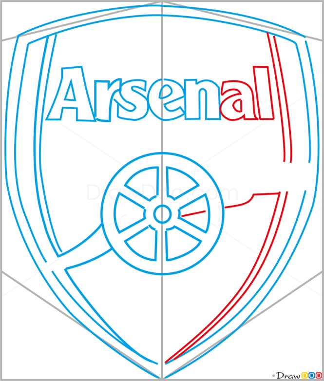 How to Draw Arsenal, Football Logos