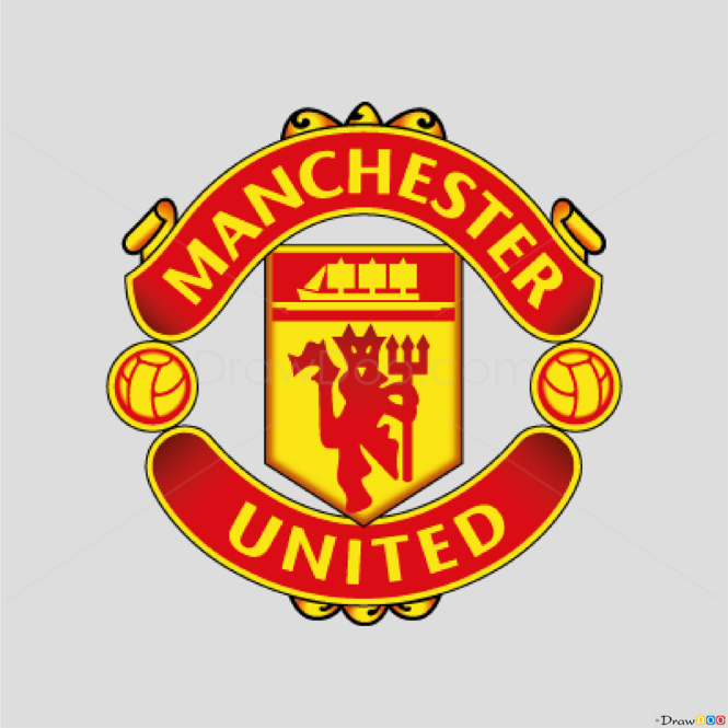 How to Draw Manchester, United, Football Logos
