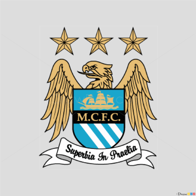 How to Draw Manchester, City, Football Logos