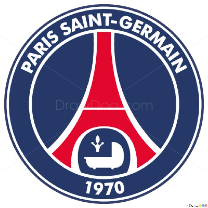How to Draw PSG, Football Logos