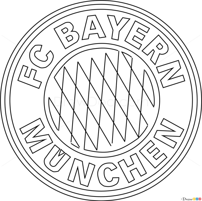 How To Draw Bayern Munich Football Logos