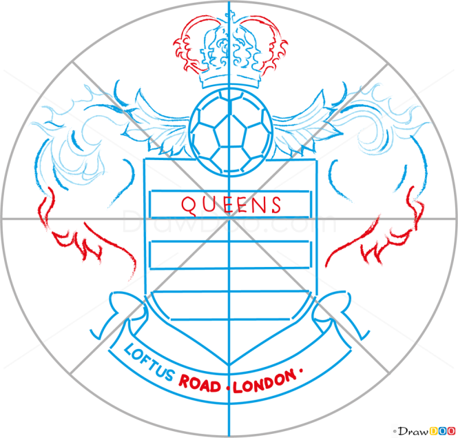 How to Draw QPR, Football Logos