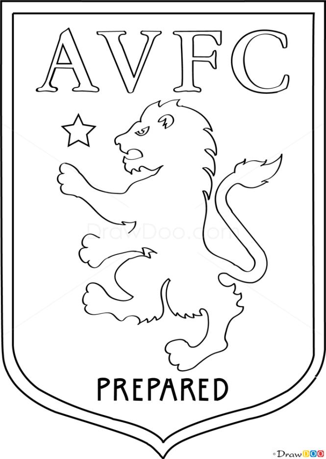 How to Draw Aston, Villa, Football Logos