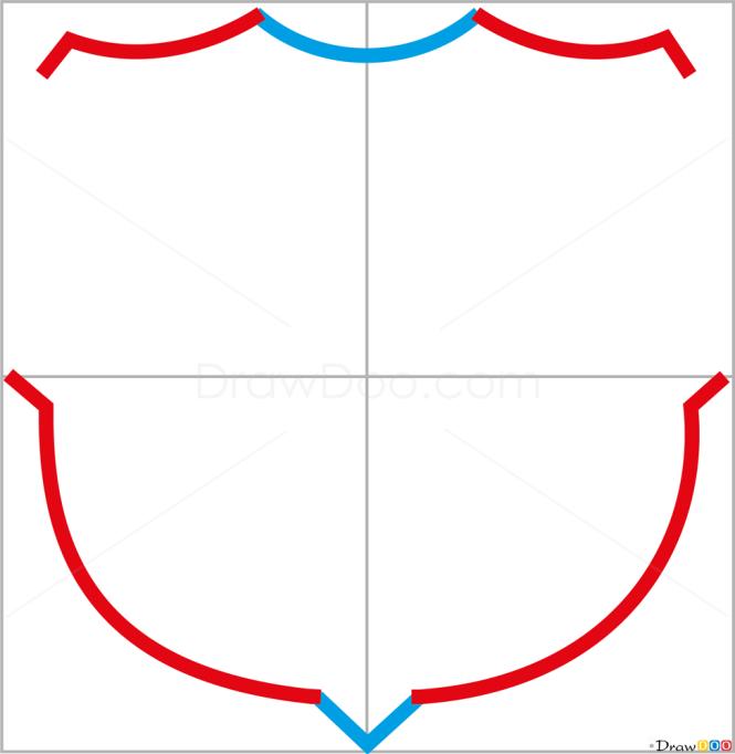 how to draw barcelona football logos