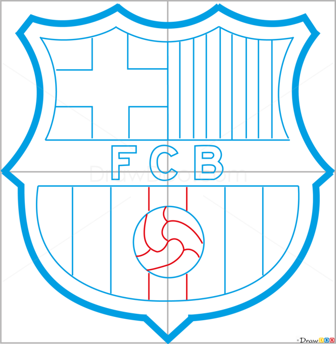 How to Draw Barcelona, Football Logos