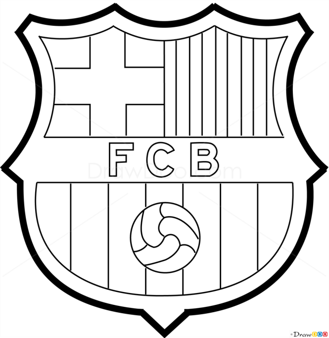 How to draw barcelona football logos