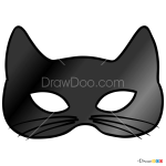 How to Draw Cat Mask, Face Masks