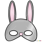 How to Draw Rabbit Mask, Face Masks