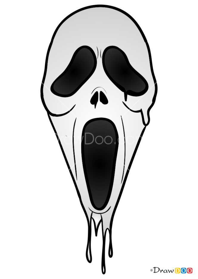 How to Draw Scream Mask, Face Masks