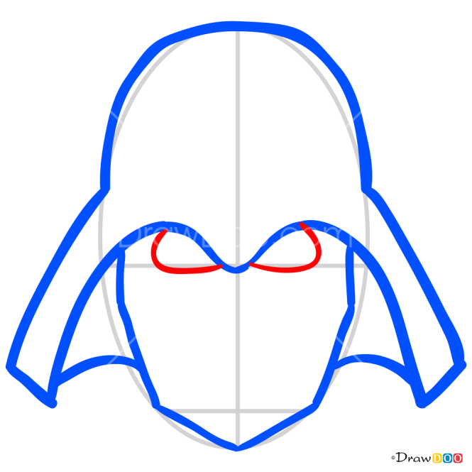 How to Draw Dart Vader Mask, Face Masks
