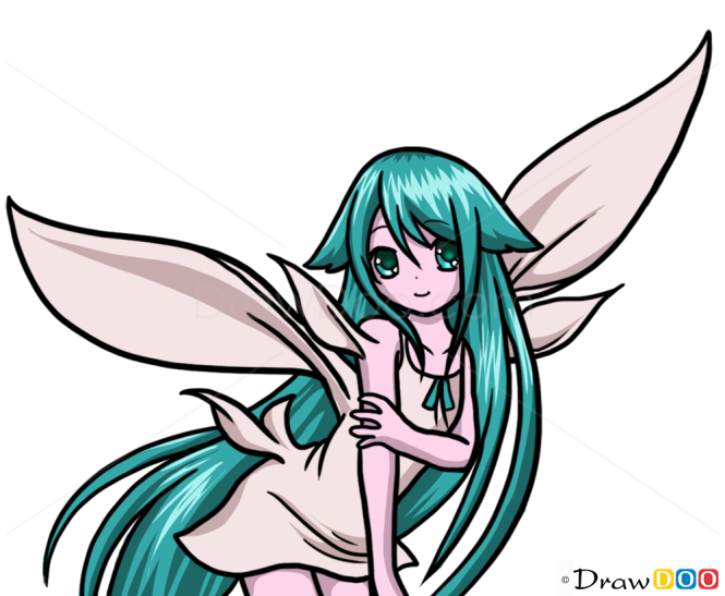 How to Draw Anime Fairie 1, Fairies - How to Draw, Drawing Ideas ...