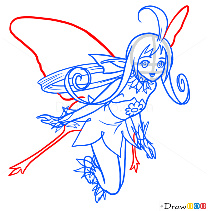 How to Draw Anime Fairie 3, Fairies
