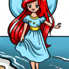 How to Draw Ariel Sea Fairy, Fairies
