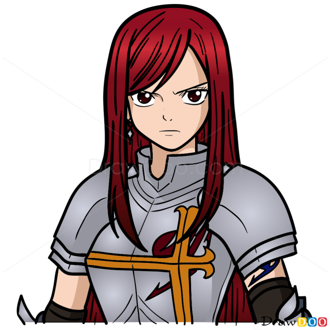 How to draw erza fairy tail - Image fairy tail erza ...