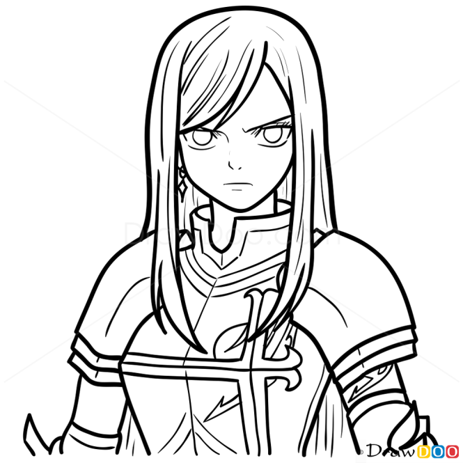 The Gallery For --> Fairy Tail Erza Drawing