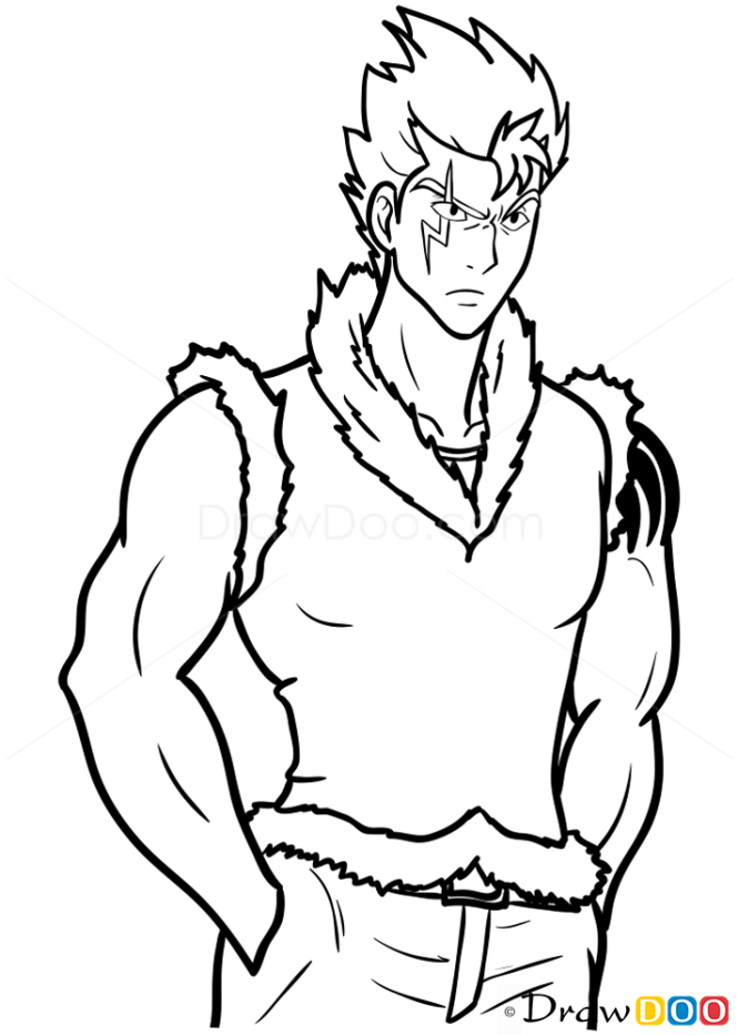 How to Draw Laxus, Fairy Tail