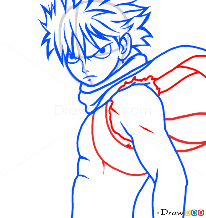 How To Draw Natsu Dragneel Fairy Tail