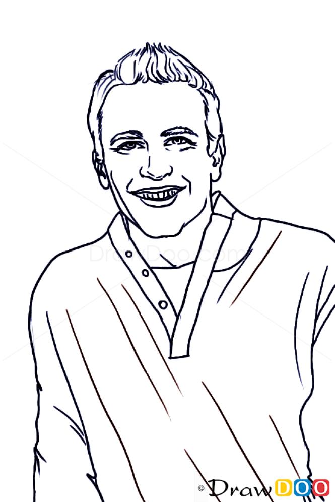 How to Draw Jason Segel, Famous Actors