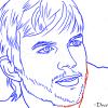 How to Draw Ashton Kutcher, Famous Actors