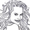 How to Draw Nicole Kidman, Famous Actors