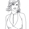 How to Draw Hilary Swank, Famous Actors