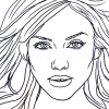 How to Draw Jessica Alba, Famous Actors