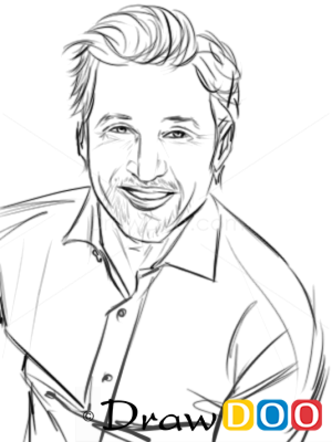 How To Draw Patrick Dempsey Famous Actors