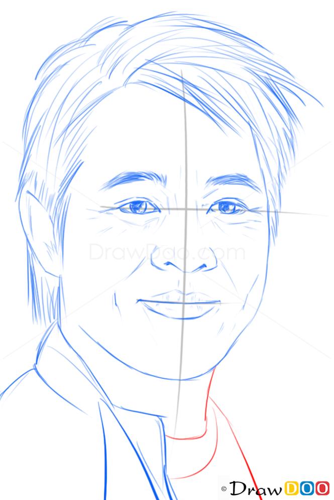 How to Draw Jet Li, Famous Actors | 665 x 995 png 485kB