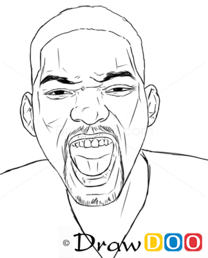 how to draw will smith famous actors