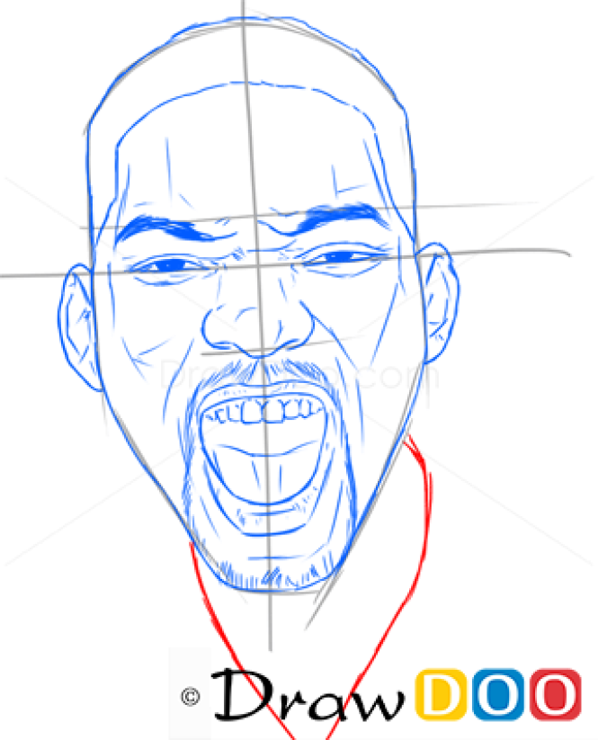 How to Draw Will Smith, Famous Actors