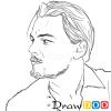 How to Draw Leonardo DiCaprio, Famous Actors