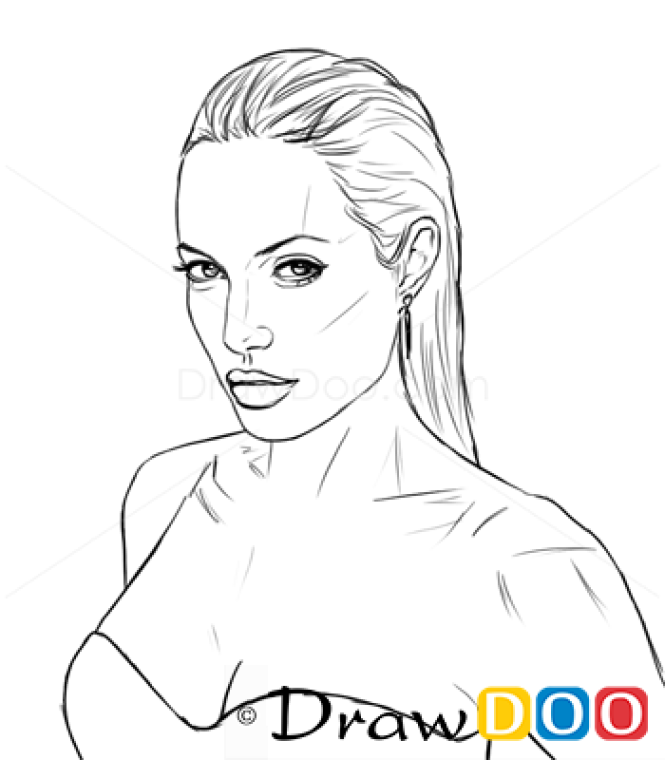 How To Draw Angelina Jolie Famous Actors