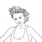 How to Draw Cameron Diaz, Famous Actors