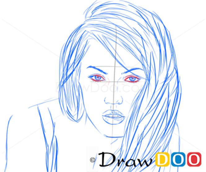 How to Draw Megan Fox, Famous Actors