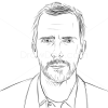 How to Draw Hugh Laurie, Famous Actors