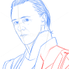 How to Draw Tom Hiddleston, Famous Actors