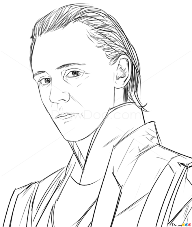 Drawing Lines With Php : How to draw tom hiddleston famous actors