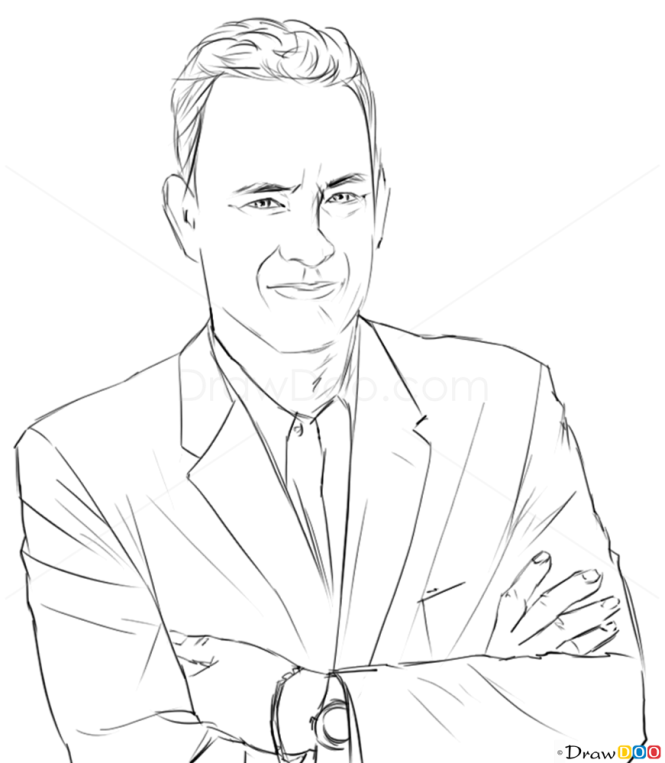 Drawing Lines With Php : How to draw tom hanks famous actors