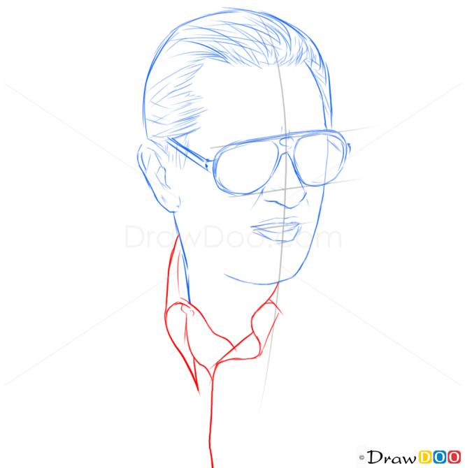 How to Draw Robert DeNiro, Famous Actors
