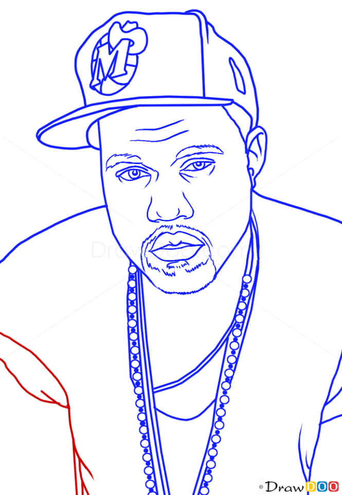 How To Draw Kanye West Famous Singers