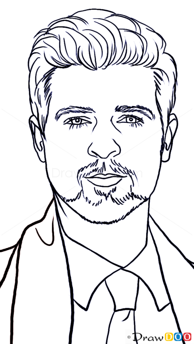 How To Draw Robin Thicke Famous Singers