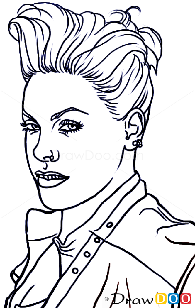 How To Draw Pink Famous Singers